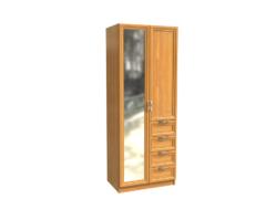 ШКАФ двудверный с зеркалом и ящиками