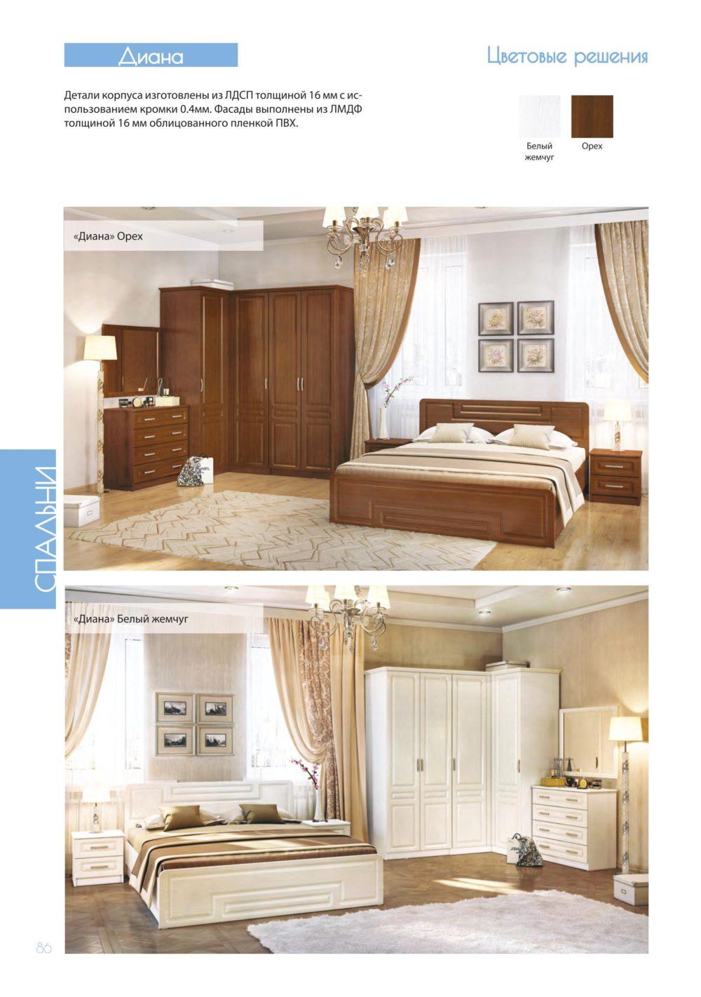 КУПИТЬ модульную спальню Диана