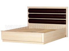Инна мод.632 Кровать 2-спальная с мягкой спинкой (Денвер Светлый)