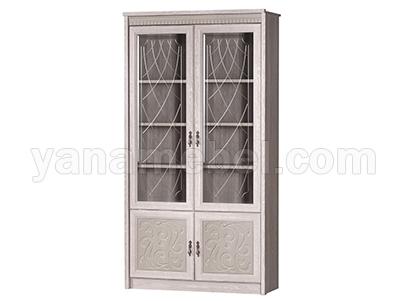 Лючия мод.184 Шкаф для книг (Дуб Оксфорд Серый)
