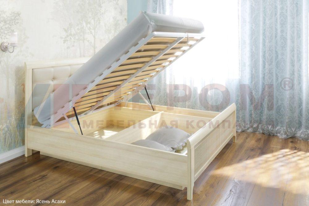 кровать карина с мягким изголовьем и подъемным механизмом