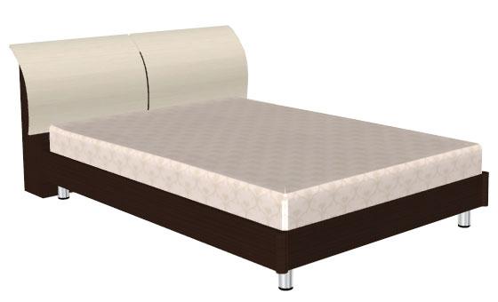 Кровать (сп.м.:1400х2000) КР-103 цвет :дуб венге комбинированный