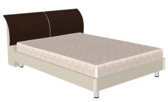 Кровать (сп.м.:1400х2000) КР-103, цвет Дуб Беленый - комбинированный