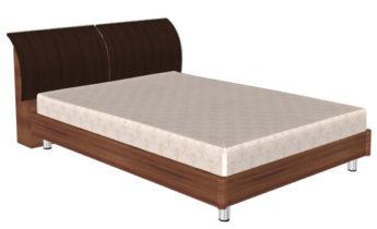 Кровать (сп.м.:1400х2000) КР-103, цвет Слива Валлис - комбинированный