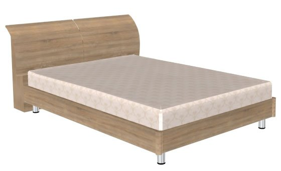 Кровать (сп.м.:1400х2000) КР-103, цвет Дуб Сонома