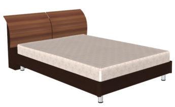 Кровать (сп.м.:1400х2000) КР-103, цвет корпус Дуб Венге, фасад Слива Валлис