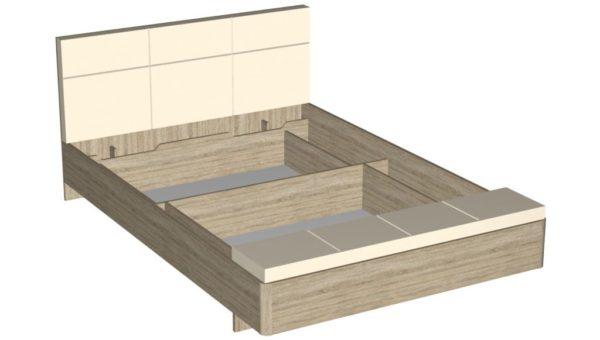 Кровать 160 см - Беата - Дуб сонома/Софт светлый