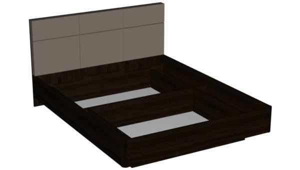 Кровать 160 см - Беата - Венге/Матовый шоколад