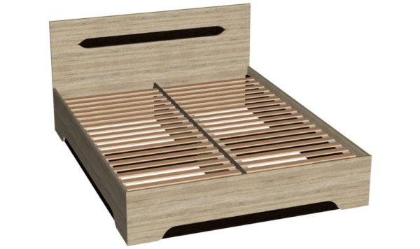 Кровать 160 см + основание - Эстель - Венге/Дуб сонома