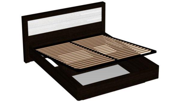 Кровать с подъемным механизмом 160 см - Ника - Венге/Белый жемчуг