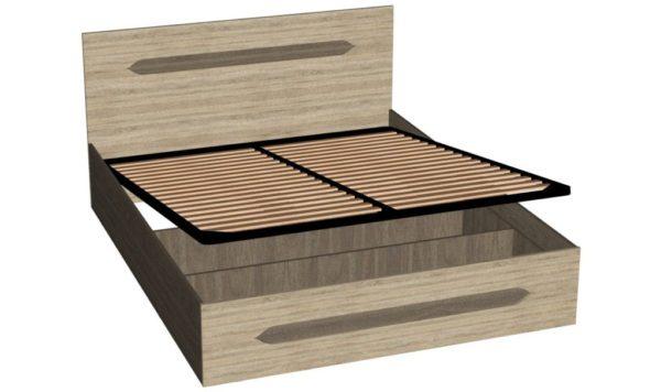 Кровать №2 +механизм подъема - Эстель - Вяз благородный/Дуб сонома
