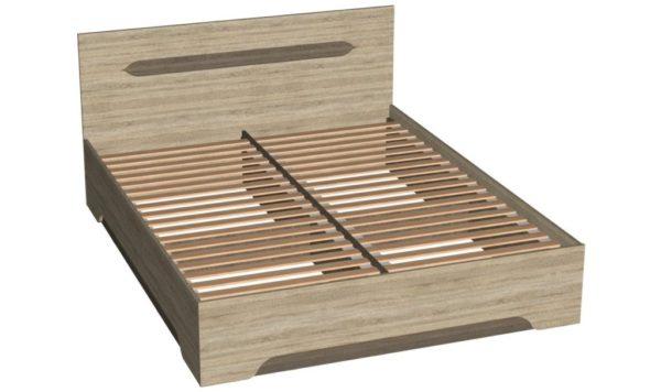 Кровать 160 см + основание - Эстель - Вяз благородный/Дуб сонома