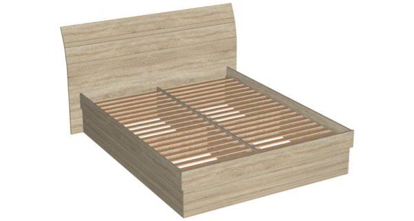 Кровать 160 царга ДСП+основание - Скарлет - Дуб сонома