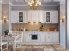 белые классические кухни