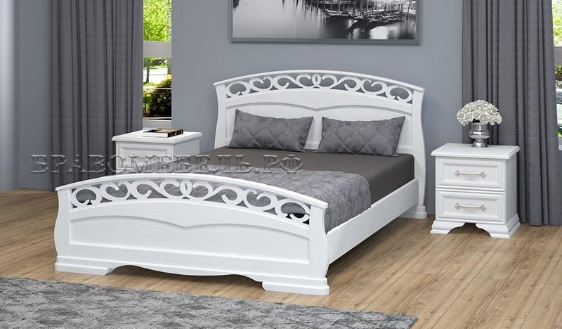 Кровать Грация-1 белый античный