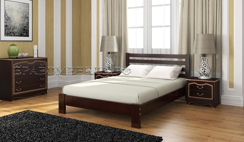 кровать вероника орех темный