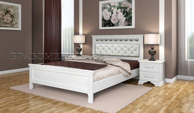 кровать грация белый античный