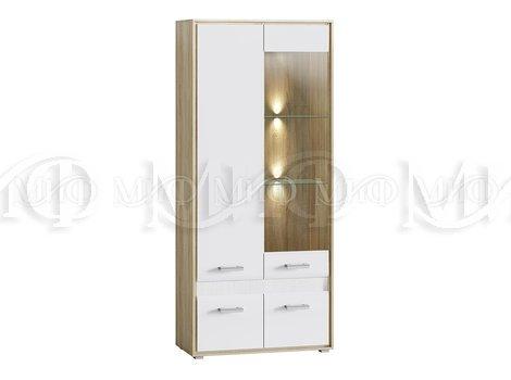 Шкаф-стекло Фортуна (Подсветка в комплекте)