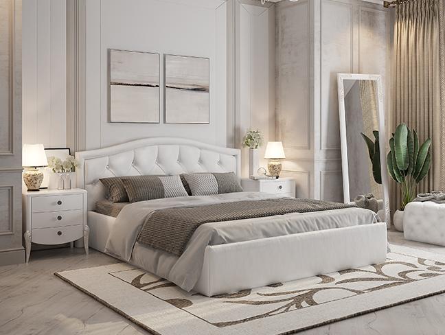 кровать Верона 1,6 белая экокожа