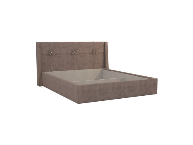 кровать джулия 1,6 какао велюр